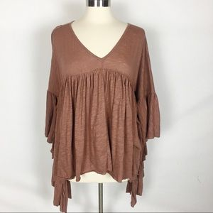 FREE PEOPLE BEACH | Boho Babydoll Cover Up Top